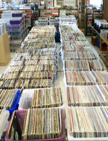 Selection of Vinyl at The Record Shop